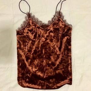 Urban Outfitters Kimchi Blue Orange Lace Cami Top